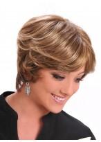 Kurze Blonde Locken Haar Perücke