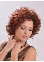 Mittellange Locken Haar Perücke
