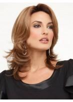 Stufig Haar für Mittellange Schöne Haar Perücke