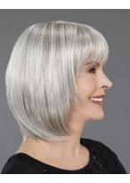 Spitzenfront Mittellange Bob Haar Perücke für Frauen über 50