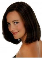 Mittellange Gerade Haar Perücke für Oval Gesicht