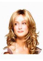 Mittelscheitel Haarstil Synthetische Wellen Spitze Perücke
