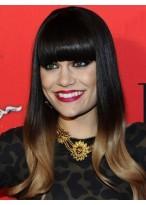 Jessie J's Ombre Boxy Franse Dip Dye Perücke