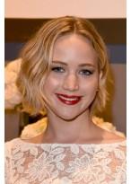 Jennifer Lawrence Kurze Wellen Perücke
