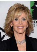 Jane Fonda Kurze Wellen geschnittene Perücke