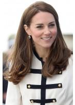 Kate Middleton Fashion Lange Gerade Lace Front Echthaar Perücke