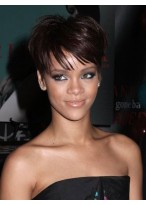 Rihanna Sporty Extra Kurze Synthetische Perücke