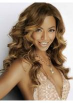 Beyonce Echthaar Lange Spitzenfront Wellen Perücke