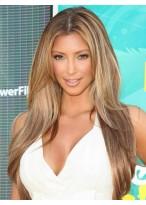 Kim Kardashian Mittelscheitel Echthaar Perücke