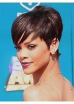 Sexy Schöne Spezifische Rihanna Haarstil Kurze Gerade Perücke