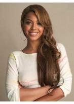 Fabelhafte Frei Stil Beyonce Haarstil Lange Wellen Vollspitzen Perücke