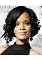 Rihanna'S Locken Bob Perücke für Schwarze Frau
