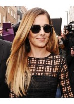 Cheryl Cole Lange Seite Seidig Haar Perücke