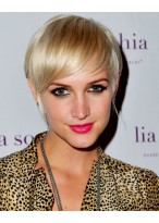 Ashlee Simpson Kurze Blonde Perücke