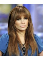 Jennifer Lopez Lange Gerade Haar Perücke mit Pony