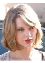 Taylor Swift Schulterlange Bob Perücke