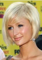 Paris Hilton Kurze Blonde Bob Perücke
