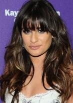 Lea Michele Lange Stufig Haarschnitt Perücke