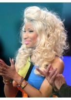 Wunderbar und Sexy Nicki Minaj Haarstil Echthaar Wellen Locken Perücke