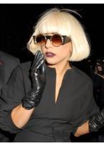 Klassische Kurze Gerade Weibliche Gaga Kappenlose Perücke für Frauen