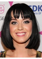 Charmant Mittellange Gerade Katy Perry Synthetische Kappenlose Perücke