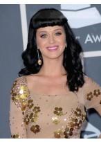 Weibliche Lange Wellen Katy Perry Remy Echthaar Kappenlose Perücke