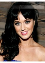 Elegante Lange Wellen Katy Perry Remy Echthaar Kappenlose Perücke