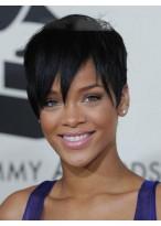 Modische Kurze Gerade Rihanna Haarstil Synthetische Spitzenfront Perücke