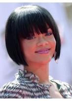 Süße Kurze Gerade Rihanna Haarstil Remy Echthaar Vollspitzen Perücke