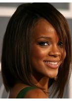 Rihanna's Mittellange Kappenlose 100% Remy Echthaar Perücke