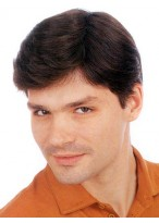 100% Handgebunden Mono mit PU männliche Klebeband Haarteil