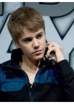 Handgebunden Bieber's Frisur Perücke
