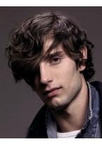 männliche Haarstil Perücke mit Wellen