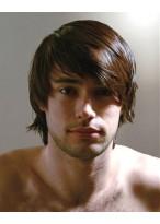 männliche Locken Haar Perücke