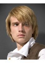 Blonde Gerade Kurze männliche Perücke