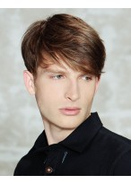 Modern Kurze Haarschnitt Perücke für Männer