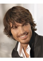 Kurze Stufig männliche Haarschnitt Perücke