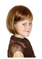 Kurze Gerade Vollspitzen Perücke für Mädchen