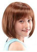Schulterlange Spitzenfront Perücke für Mädchen
