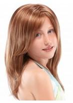 doppelschichtige Vollspitzen Perücke für Mädchen