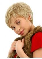 Kurze Shag Stil Spitzenfront Kinderperücke