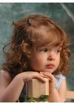 Remy Echthaar Schöne Locken Kinderperücke