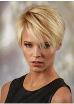 Synthetische Gerade Kurze Blonde Perücke