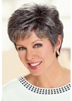 Graue Kurze Haar Perücke