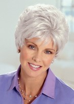 Graue Haar Perücke